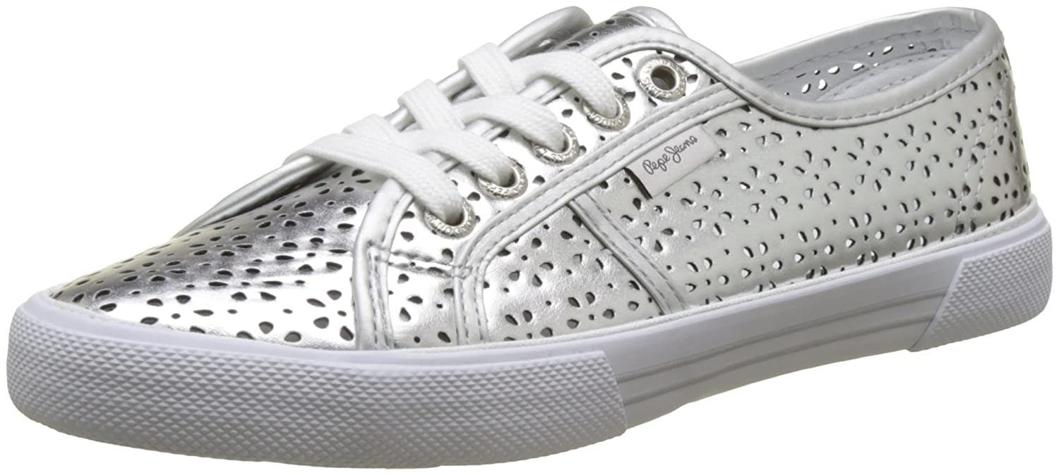 ab3107149ac Pepe Jeans Women s Aberlady Daisy Trainers  Amazon.co.uk  Shoes   Bags
