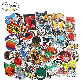 Pegatinas 200 pcs, URAQT Pegatinas Vinilo, Calcomanías Graffiti,Todos los Estilos Diferentes al