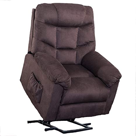 Pleasant Power Lift Chair For Elderly Reclining Chair Sofa Electric Recliner Chairs With Remote Control Soft Fabric Lounge Brown Gamerscity Chair Design For Home Gamerscityorg