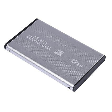 318753201f96 Amazon.com: USB 2.0 External 2.5-inch SATA Aluminum HDD Enclosure Case for  Laptop (Silver): Computers & Accessories