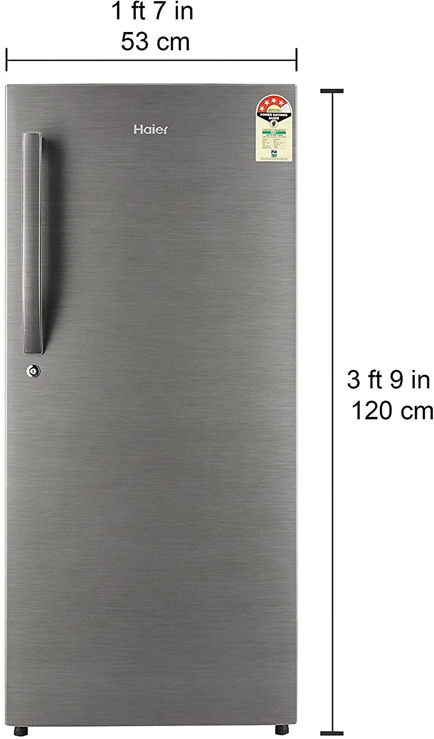Haier 195l 4 star direct cool single door refrigerator hed 20fds haier 195l 4 star direct cool single door refrigerator hed 20fds brushed silverdazzle steel amazon home kitchen fandeluxe Image collections