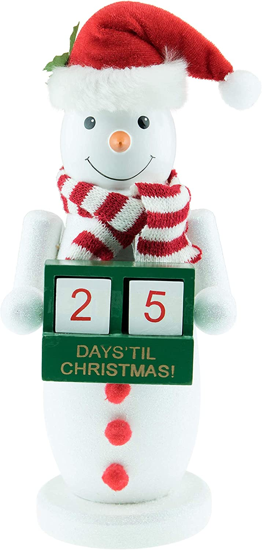 "Clever Creations Count Down Snowman Advent Calendar Blocks | Days Until Christmas | 100% Wood | Snowy White Snowman Decor | Measures 4.5"" x 10"" | Perfect for Tables & Shelves | Premium Holiday Décor"