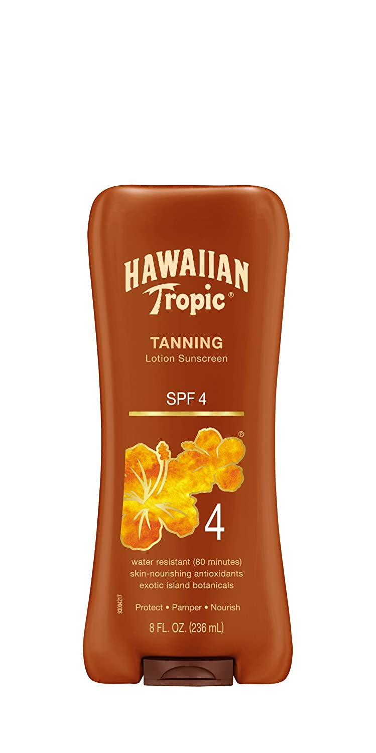 Hawaiian Tropic Sunscreen Protective Dark Tannning Sun Care Sunscreen Lotion - SPF 4, 8 Ounce PLAYTEX438044