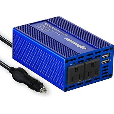 EPAuto 300W Car Power Inverter DC 12V to 110V AC Converter with Dual USB Charger: Car Electronics