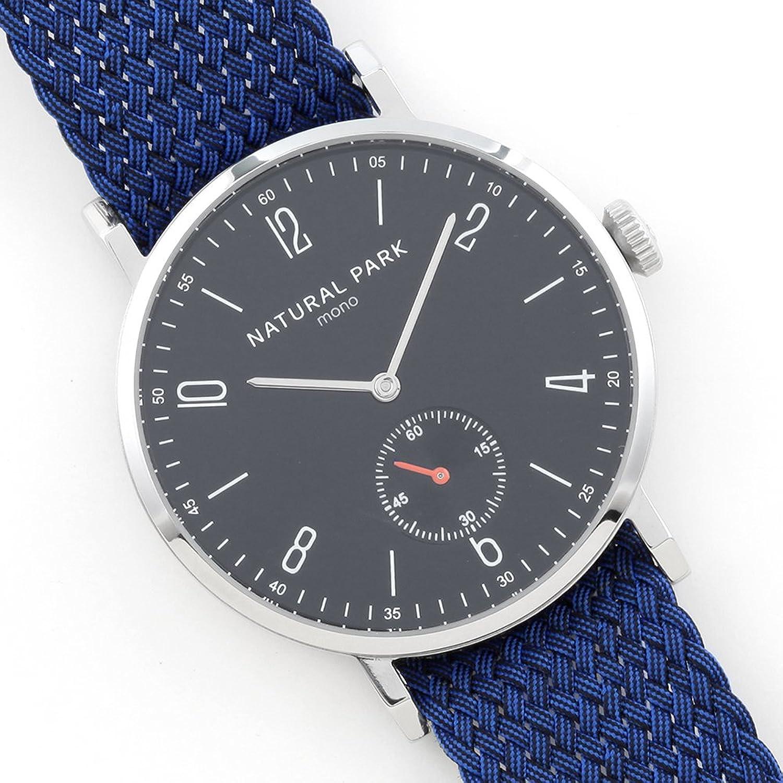 Wasserdichte Herren & Frau Kleid Uhren mit schwarzem Zifferblatt blau Nylon Armbanduhr Band arabischen Zahlen Display