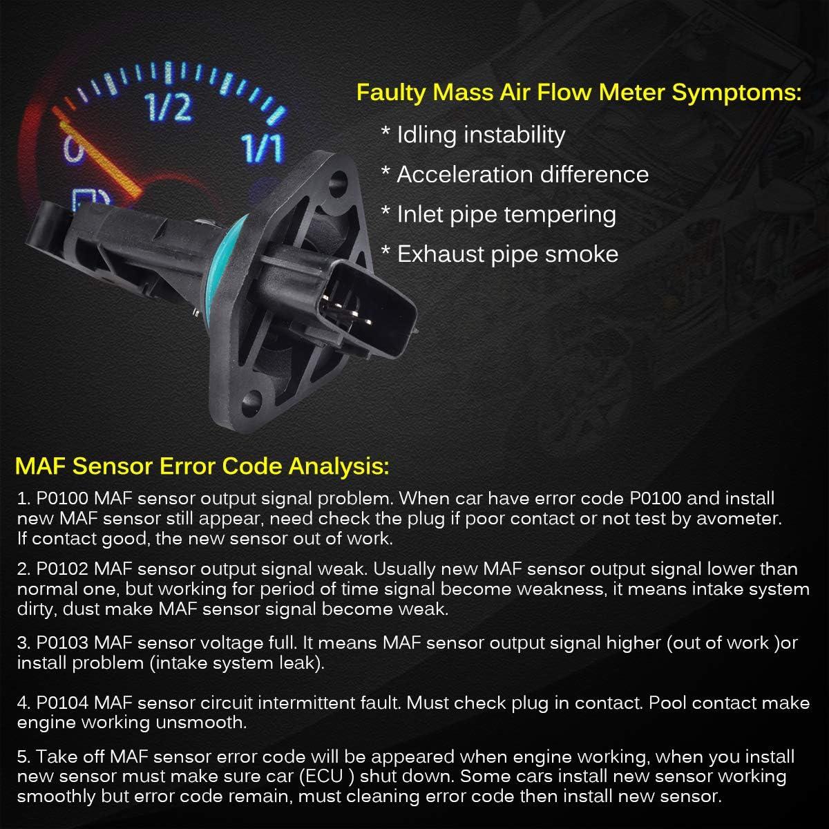 FAERSI Mass Air Flow Sensor Meter MAF 22680-4M500 22680-6N201 Compatible with Nissan Infiniti G20 I30 Maxima Sentra 2000-2002 G20 2.0L 2000 2001 I30 Maxima 3.0L /& Sentra 2.0L