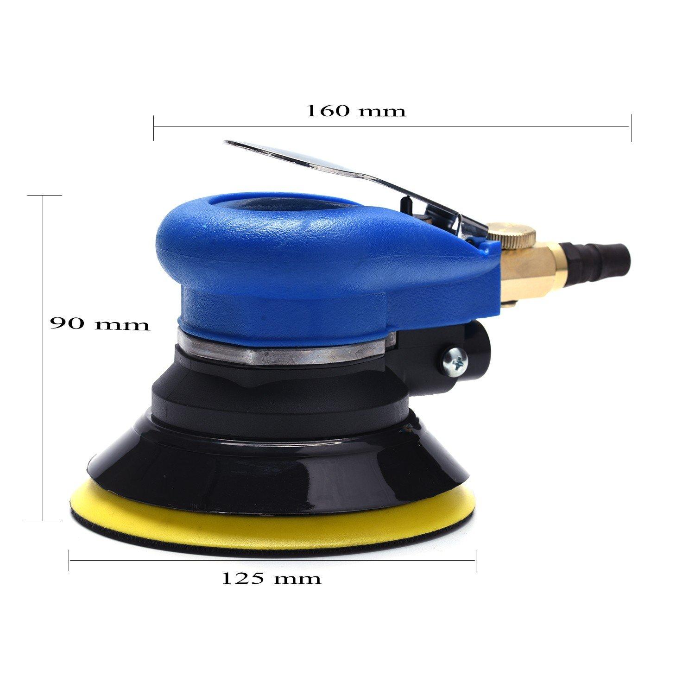 professionelle Polierer Set Multischleifmaschine mit Staubsammler Staubfrei Exzenterschleifer Druckluft 125mm