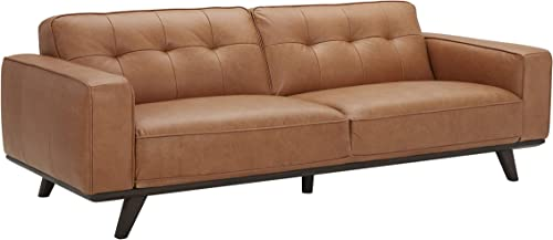Amazon Brand Rivet Bigelow Modern Leather Sofa Couch