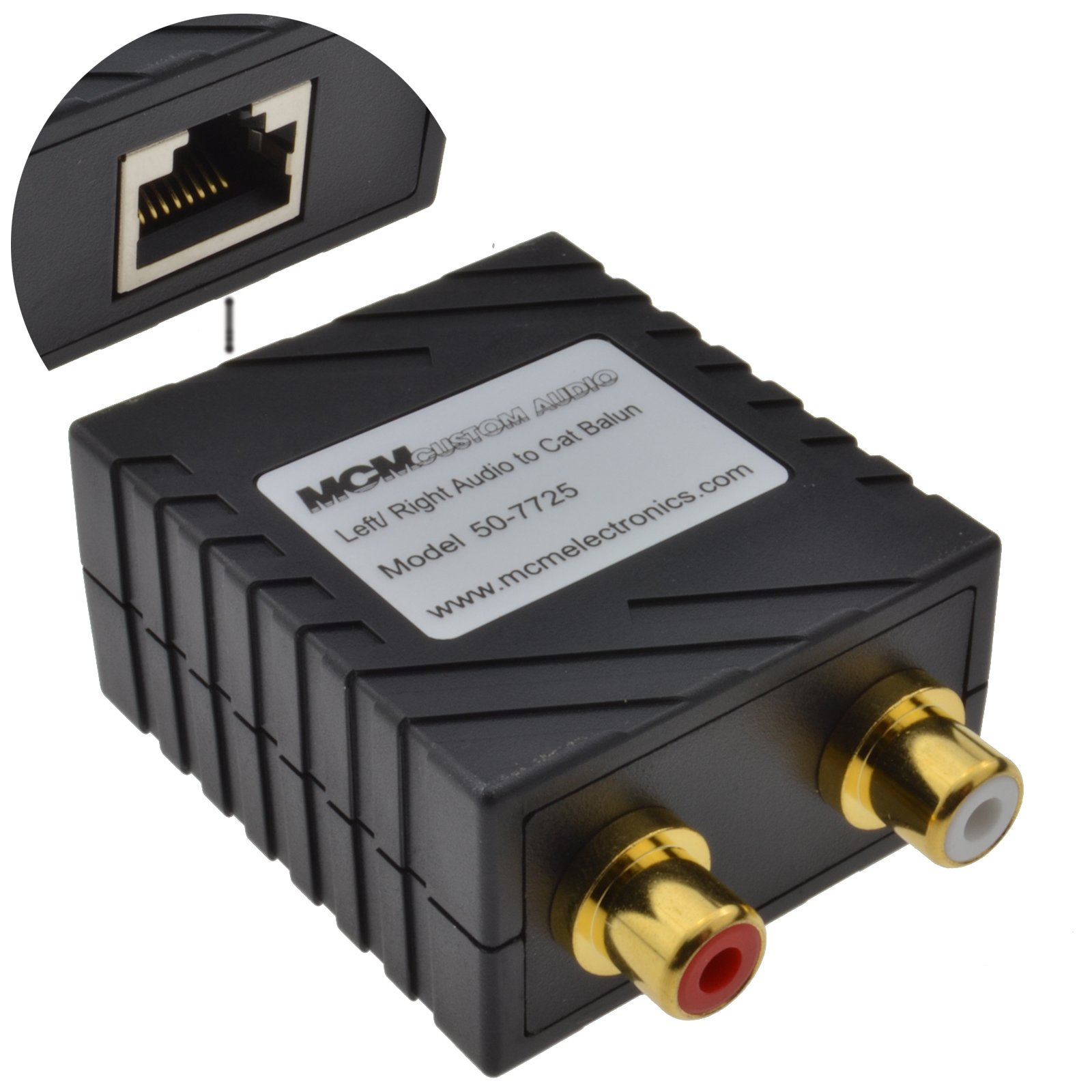 kenable Audio Sender Over LAN Cat5 Ethernet Cable Phono RCA Extender 150m (~500 feet) by kenable