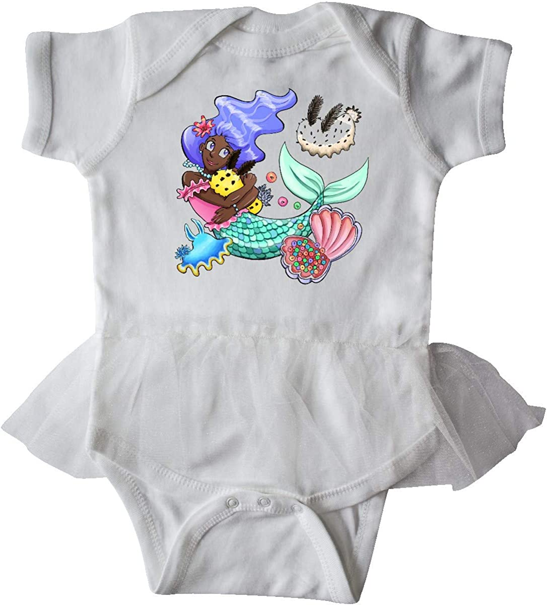 inktastic Easter Mermaid with Blue Hair and Sea Bunnies Infant Tutu Bodysuit