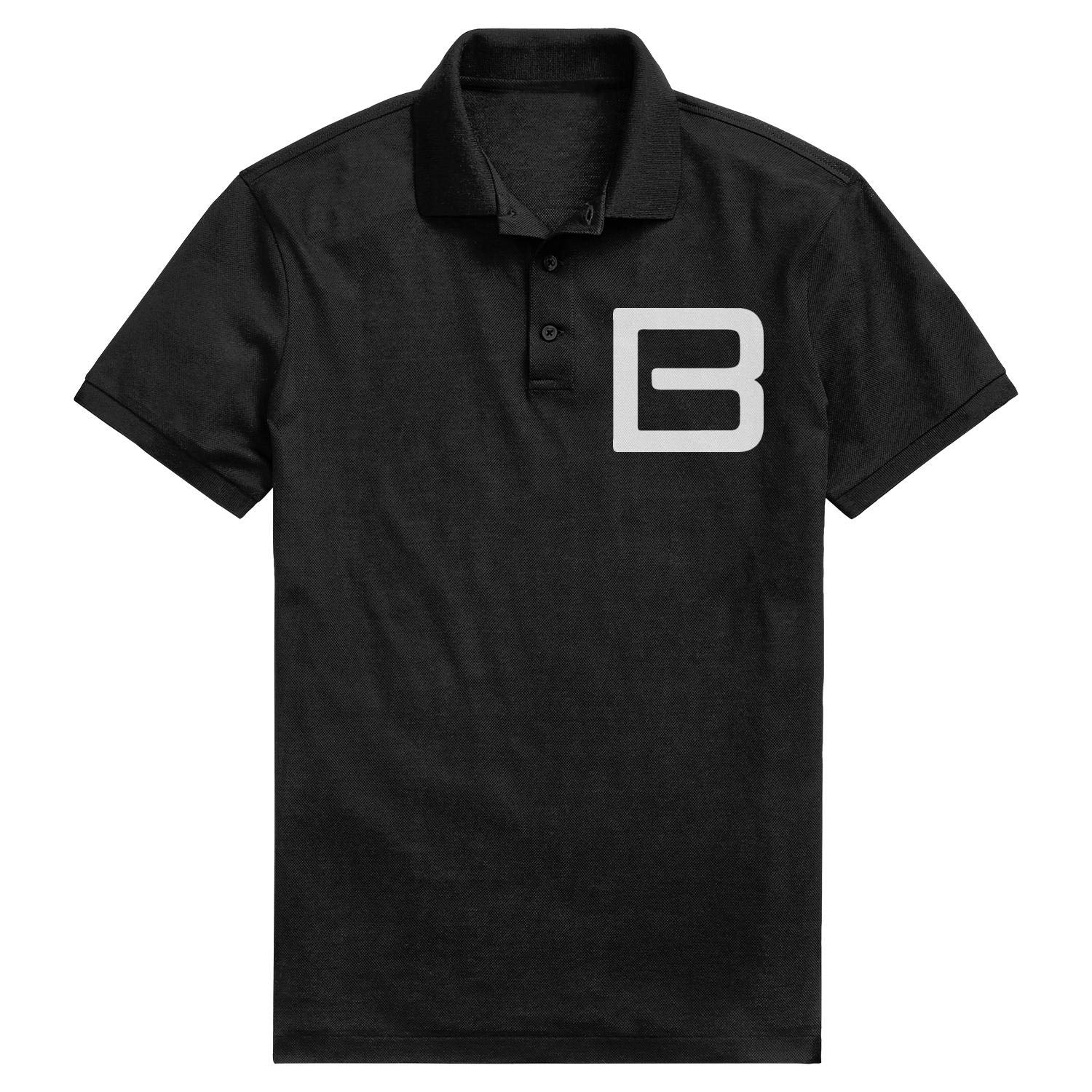 Mens Classic Pique Polo T Shirt Fit Bayliner Logo White Adjustable Athletic Short-Sleeves