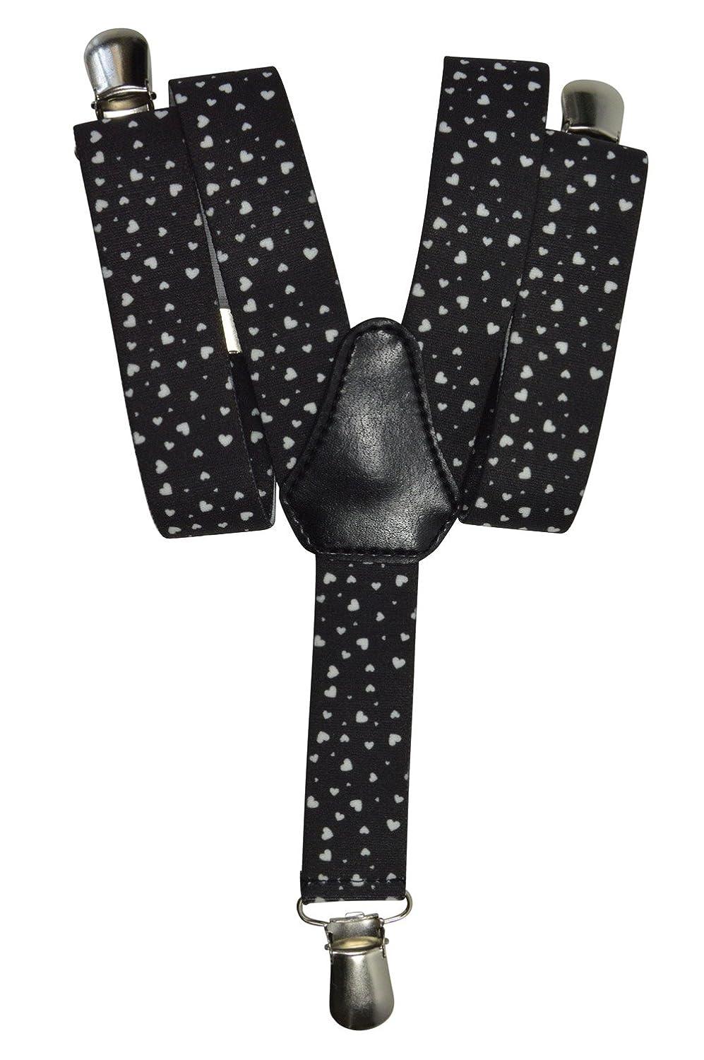 Olata Bretelle Elasticizzata per Bambini 1-5 Anni, Y' Clip design, Cuore Modello Y' Clip design Cuore Modello - Blu KIDSBRACESJhearts-blue