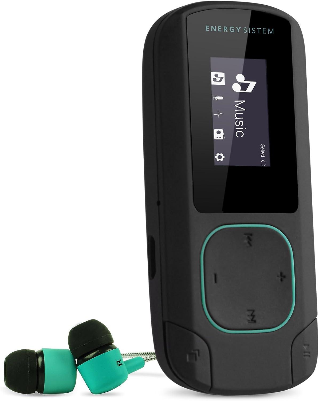 Energy Sistem MP3 Clip Bluetooth (Bluetooth, 8 GB, Clip, Radio FM y microSD) - Verde Mint