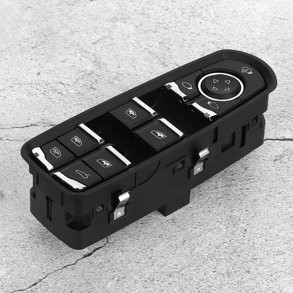 Terisass Interruptor de elevalunas el/éctrico 7PP959858R Interruptor de control de la ventana principal del lado del conductor del autom/óvil para Cayenne Macan Panamera 2009-2016