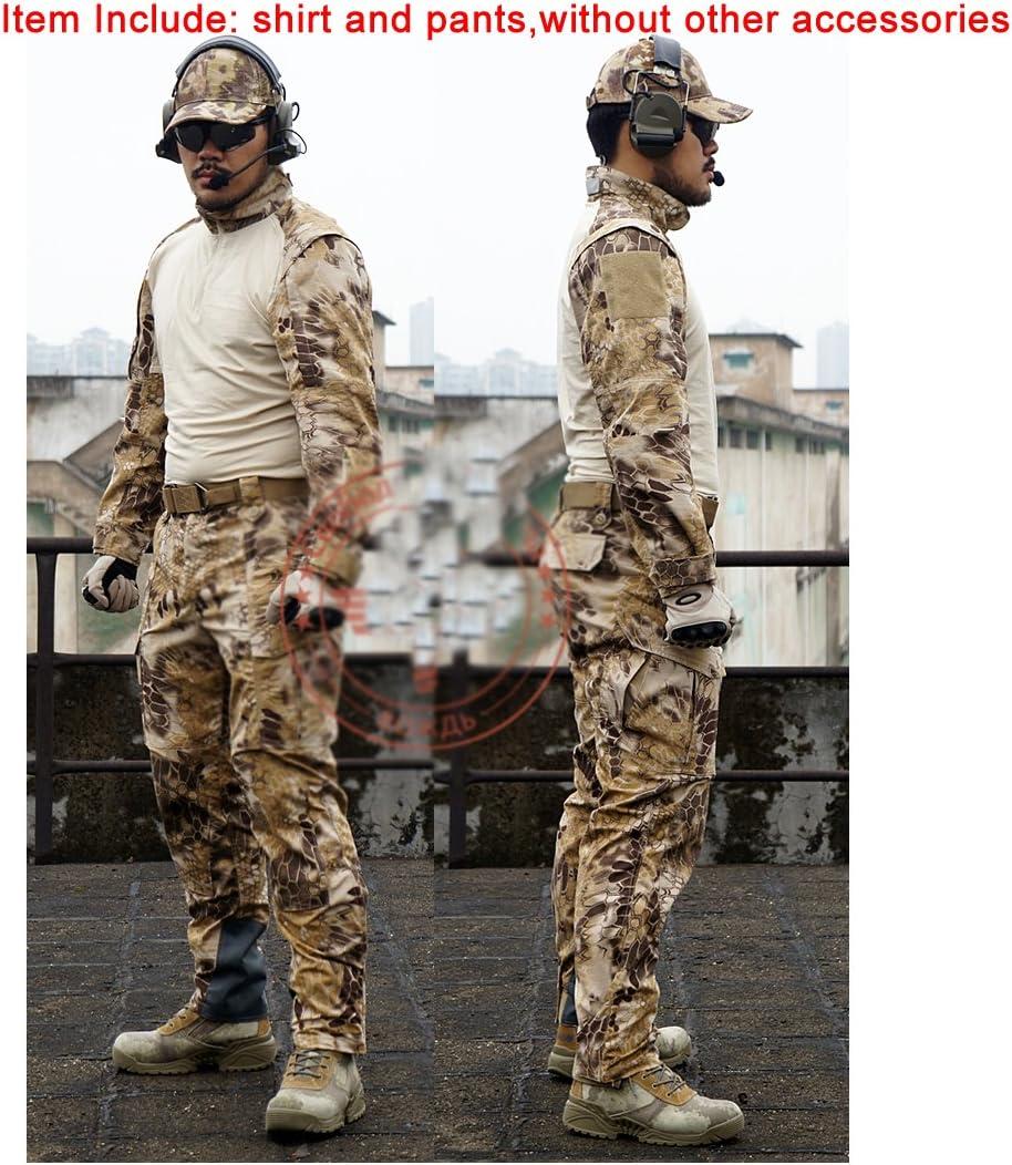 ATAIRSOFT camiseta y pantalones tácticos para hombre BDU de combate uniforme para deportes al aire libre, militar, airsoft, paintball, juegos de guerra, disparo HLD, Large: Amazon.es: Deportes y aire libre