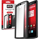 Orzly® - FUSION Bumper Case für OnePlus ONE - Fusion Stark Hülle / Fall / Schutzhülle in CHARCOAL BLACK (SCHWARZ) mit Rückseite in Voll Transparent - Designed by Orzly® exclusively for use with the ONE PLUS ONE SmartPhone (Alias: Flagship Model of Smart Phone named ONE Released by ONE PLUS / New 2014 Release / Original Premier Launch Version / ONE PLUS ONE / OPO / etc.) - Fits ALL Models and Versions from 2014 Original Version and onwards