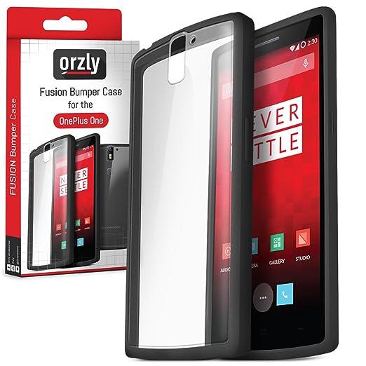 130 opinioni per Orzly®- FUSION Bumper Case per OnePlus ONE- COPERTINA / CUSTODIA Fusión in NERO