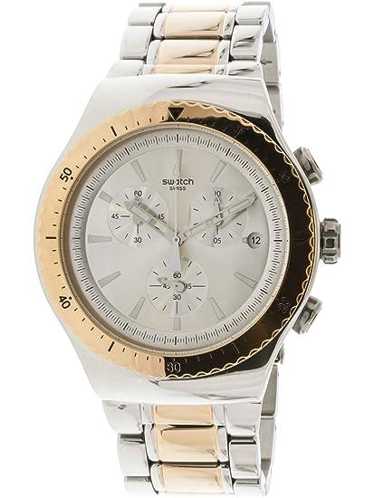 Swatch Reloj Digital para Hombre de Cuarzo con Correa en Acero Inoxidable YOS452G: Amazon.es: Relojes