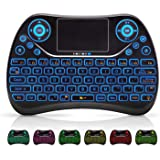 Mini Wireless Keyboard, Remote Keyboard with Multimedia Keys, 2.4GHZ USB Rechargable Android Remote for TV Box, Mini Keyboard