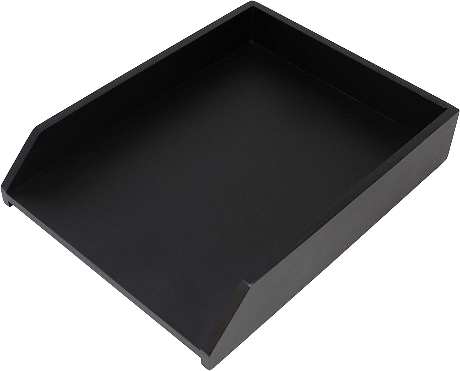 HumanCentric Wood Letter Tray (Solid Black) | Desk Paper Tray for Files and Documents | Inbox Tray for Office