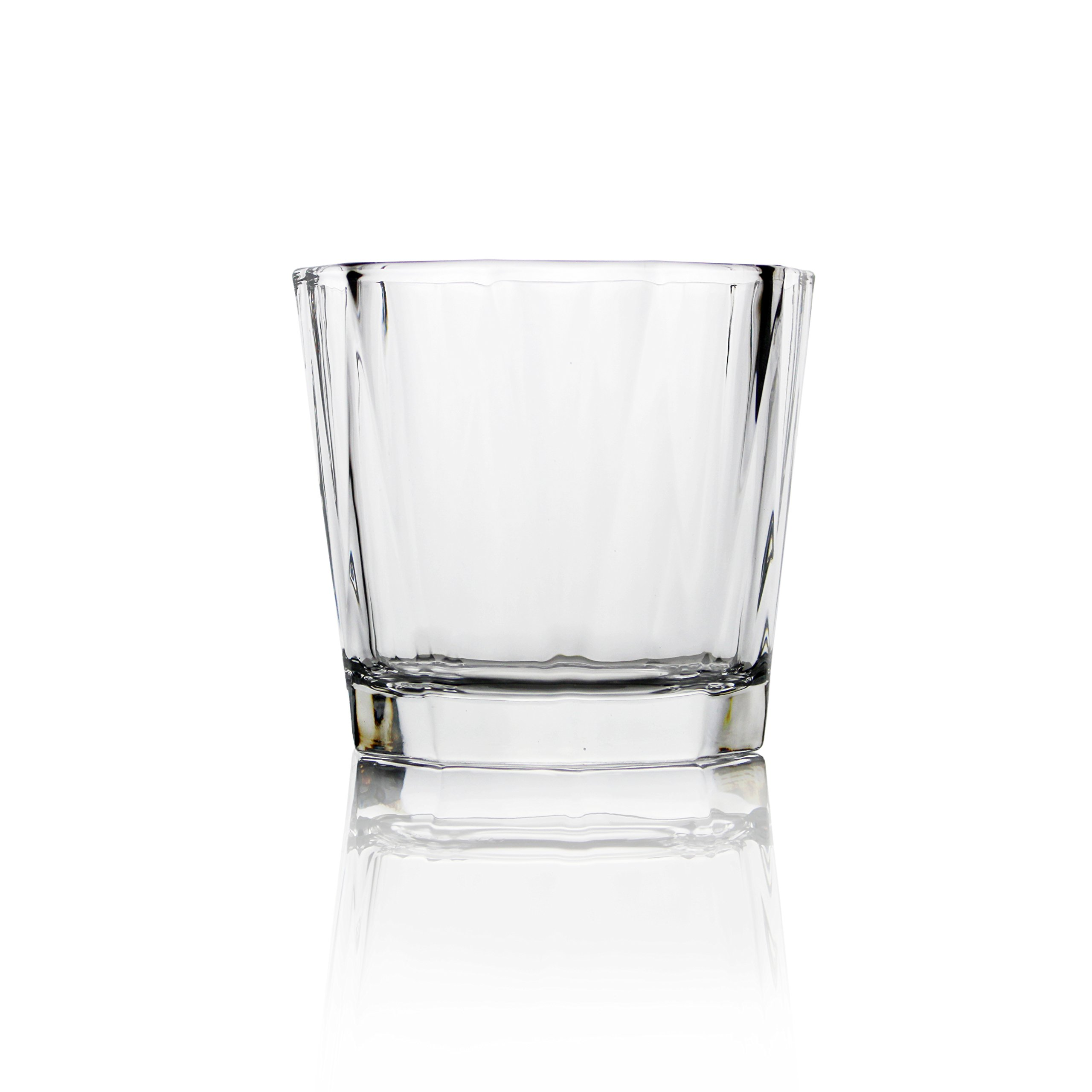 Deluxe Set Of 4 10 Oz/310 Ml Whiskey Drinking Glasses By Summit One – Lead-Free Drink Tumblers For Scotch, Bourbon – Unique Modern Design W/ Heavy Base & Wide Mouth – Great Gift Idea