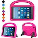 Kids Case for Fire HD 8- TIRIN Light Weight Shock Proof Handle Kid –Proof Cover Kids Case for Amazon Fire HD 8 Tablet (7th Generation, 2017 Release),Rose