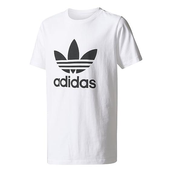8fa0a683be3b T-Shirt adidas - J Trefoil Tee Girl blanc noir taille  117 - 122 cm ...