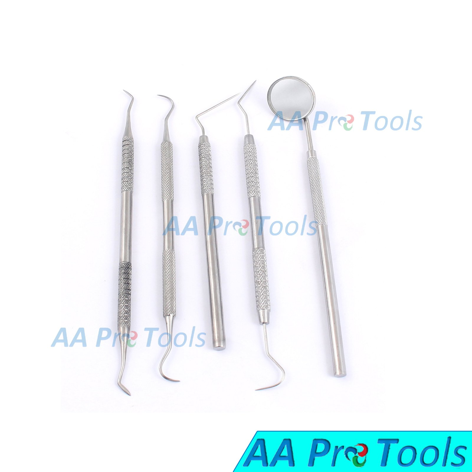 AA PRO GERMAN GRADE STAINLESS DENTAL DENTIST PICK TOOL KIT 5 PIECE A+ QUALITY