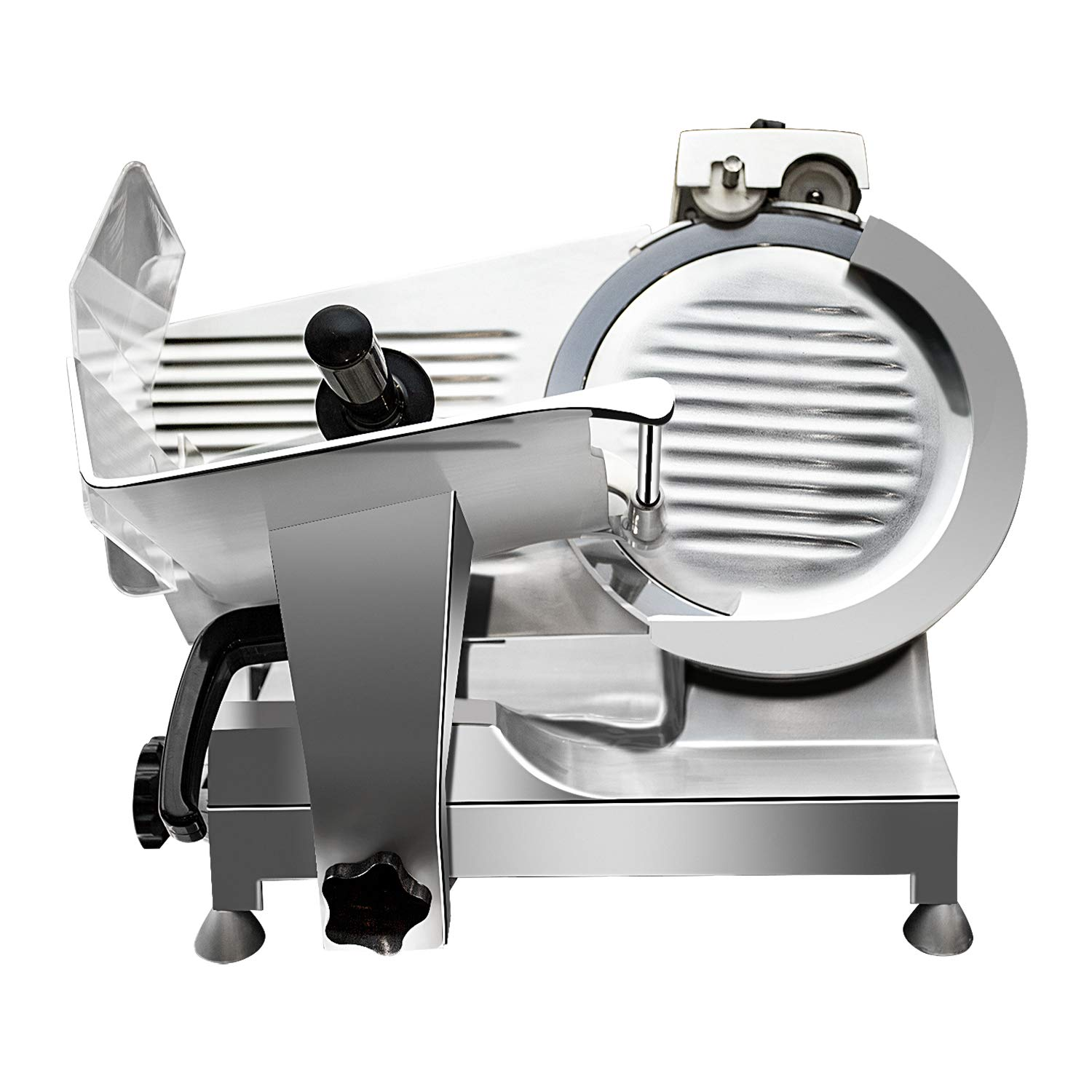Premium Commercial Semi-Auto Meat Slicer - KITMA Stainless Steel Electric Cheese Deli Food Slicer with 12'' Blade, Adjustable Thickness Control for Restaurant, Kitchen by KITMA