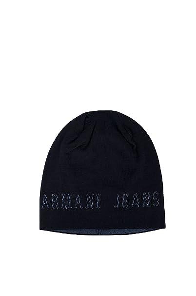 ARMANI JEANS CAPPELLO ZUCCOTTO UOMO BEANIE 934107 7A715 blue scuro  Amazon. it  Abbigliamento 931beacc2bb8