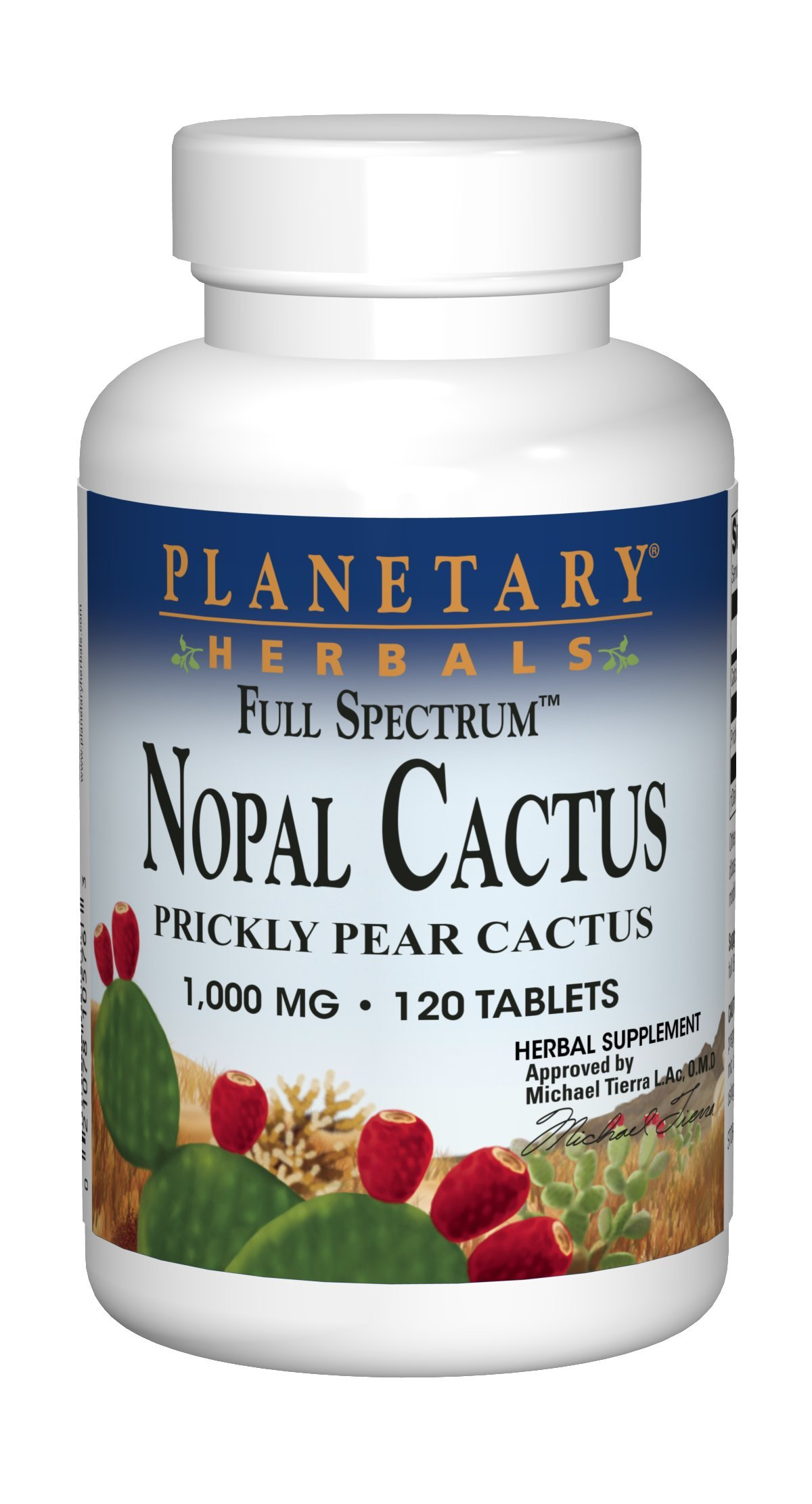 Planetary Herbals Full Spectrum Nopal Cactus 1000 mg 120 Tablets