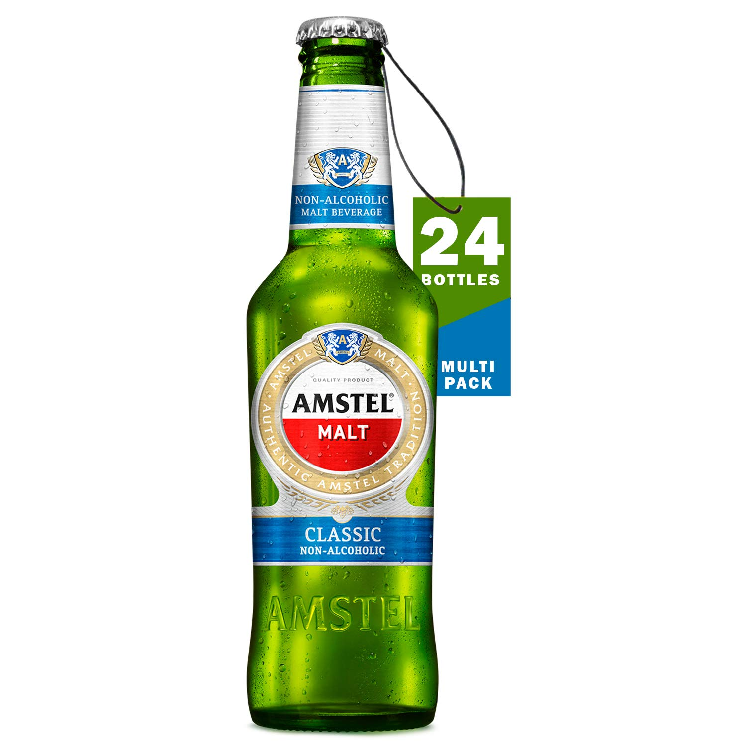 AMSTEL Malt Classic Non-Alcoholic Beverage Beer Bottle, 24 x 330 ml