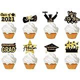 2021 Graduation Cupcake Toppers - 72PCS Food/Appetizer Picks For Graduation Party Mini Cake Decorations, Celebrate Graduation