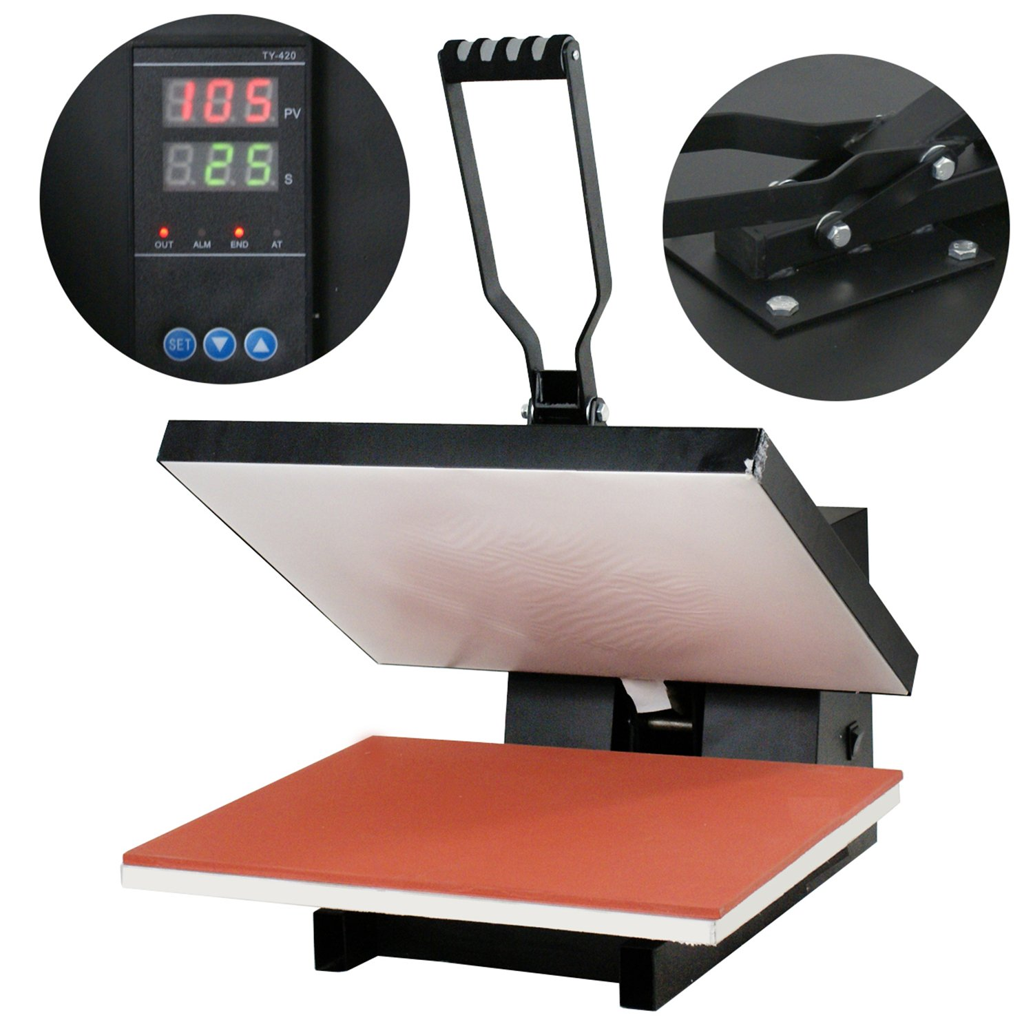 F2C16''x 20'' Digital Controller Sublimation New Clamshell Heat Press Machine T-shirt (16''x 20'')