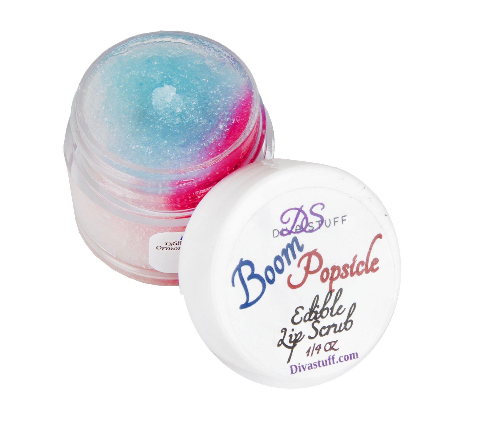 Diva Stuff Lip Scrubbie, 1/4 ounce of Fun Flavor For Soft Lips, Boom Popsicle