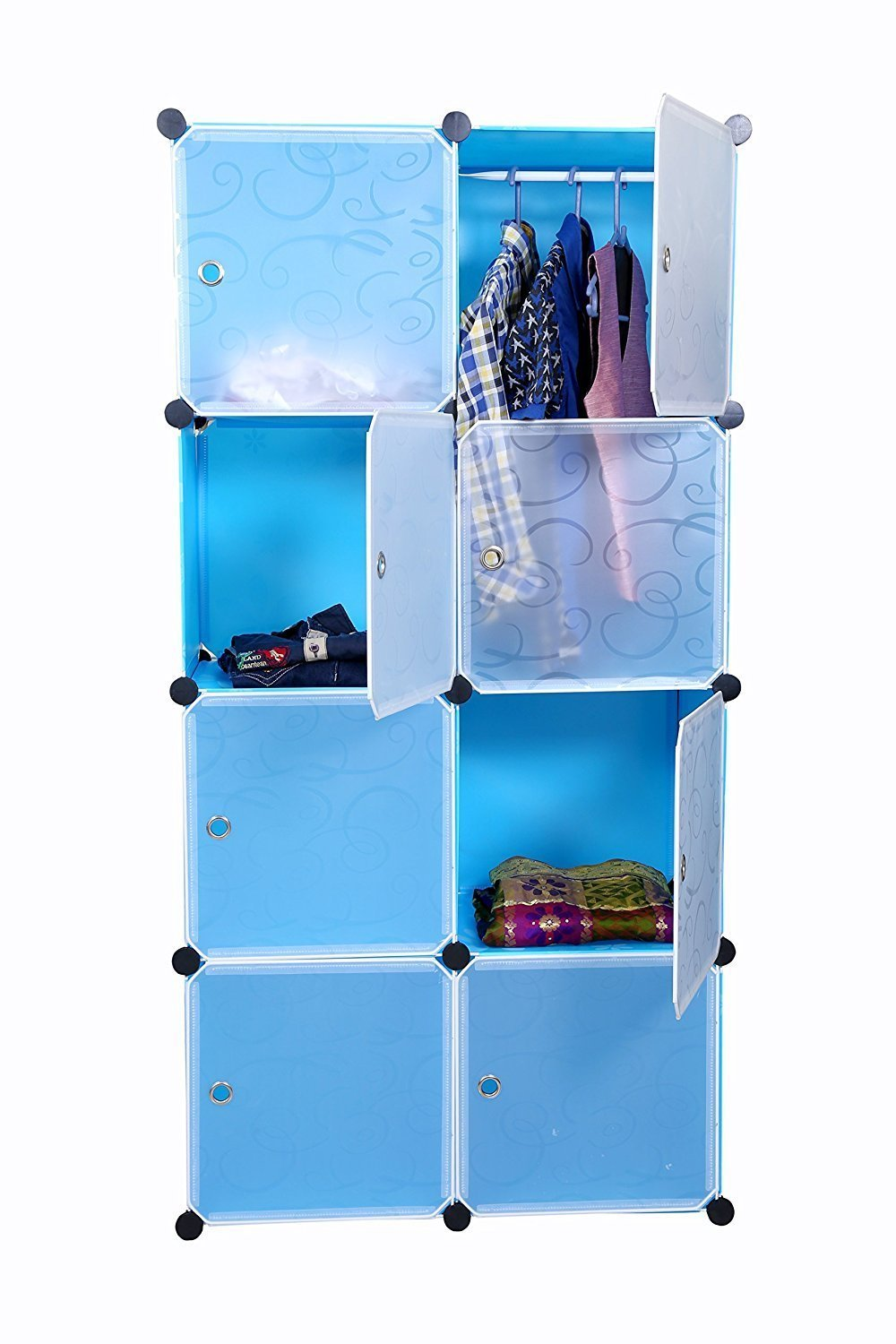 Kurtzy 8 Door Wardrobe Storage Rack