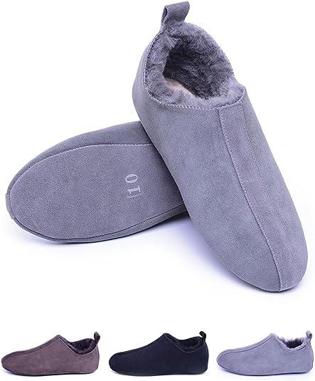 Men's Sheepskin Slippers of Soft Sole