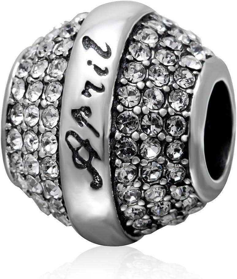 Amazon Com April Charm 925 Sterling Silver Birthstone Charm Birthday Charm Crystal Charm For Pandora Bracelet April Arts Crafts Sewing