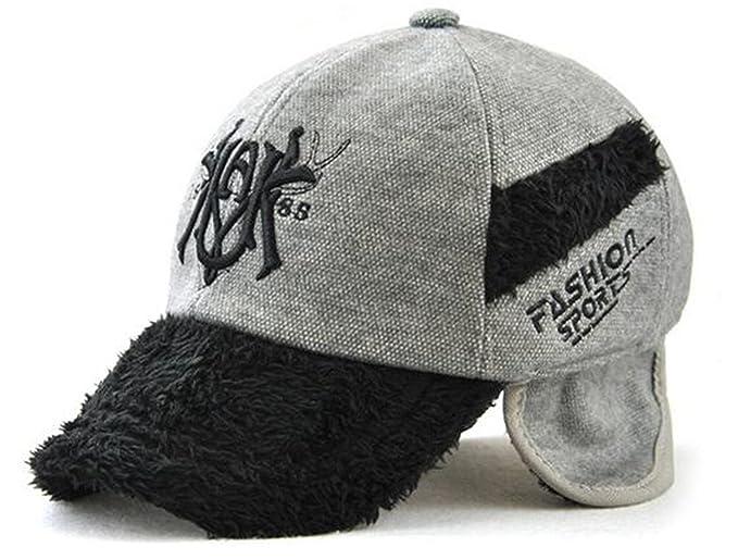 Melii Children Earflap Baseball Caps Sports With Earmuff Hat for Kids  (Gray 36abdea4450