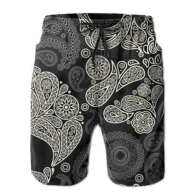 Ncwi Wa Skull And Crossbones Men Quick Dry Swim Trunks Lightweight Swimwear Board Shorts Swimsuits