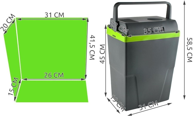 Compass 07118 K/ühlbox 22l 230V//12V ECO A++