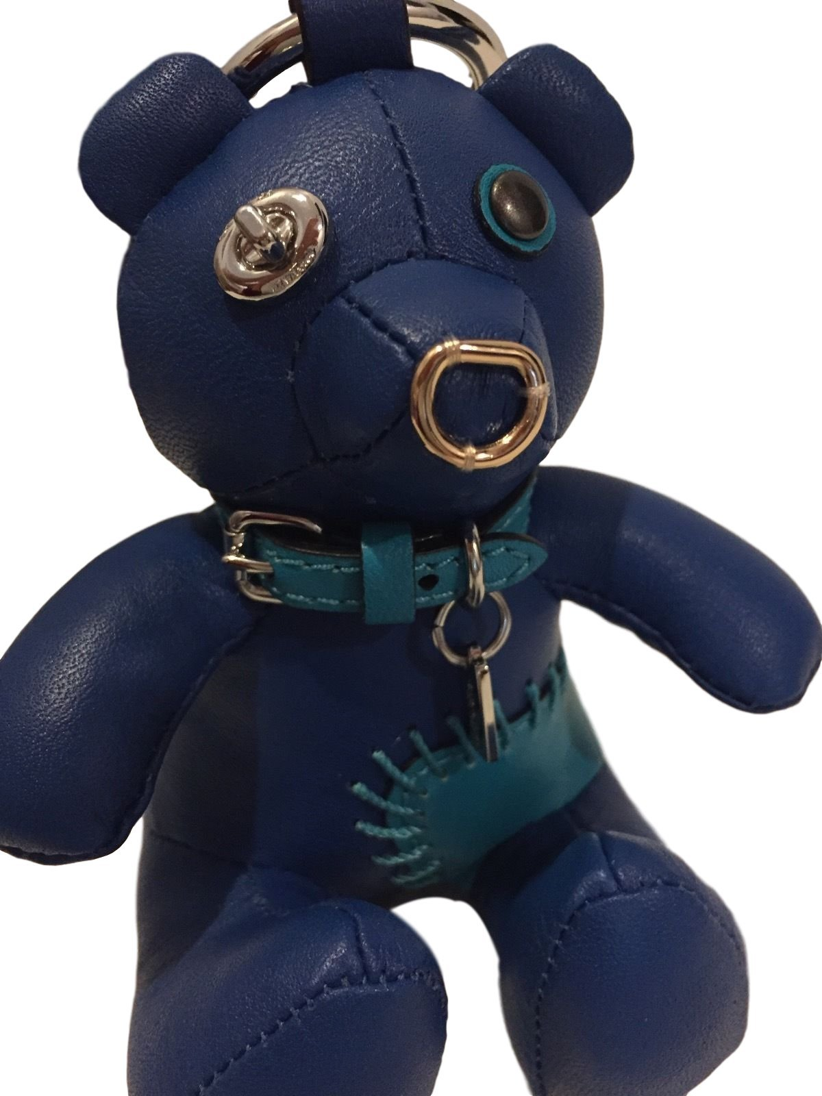 COACH Leather Limited Edition Holiday Bear Bag Charm ''ACE'' Blue Teddy 56743 by Coach (Image #3)