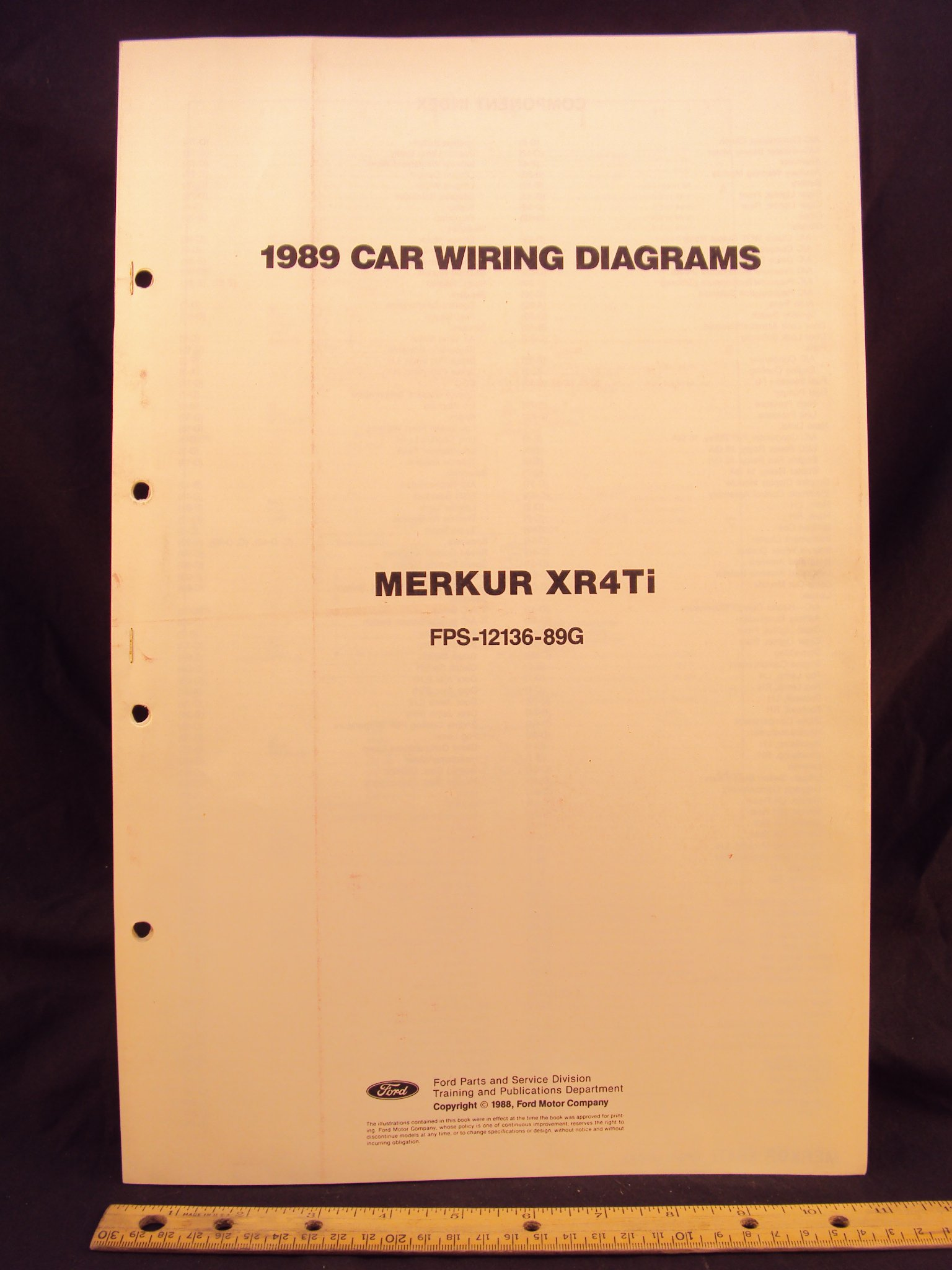 1989 mercury merkur xr4ti electrical wiring diagrams schematics rh amazon com 2012 Dodge Avenger Wiring-Diagram 2012 Dodge Avenger Wiring-Diagram