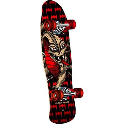 "Powell-Peralta Mini Cab Dragon Black/Red Complete Skateboard, 8.0"" W x 29.5"" L : Sports & Outdoors"