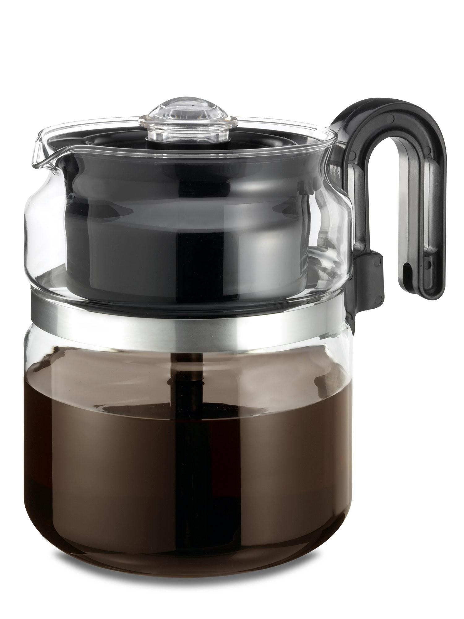 Wee's Beyond 7548 Stove Top Percolator, 8 Cups, Clear/Glass