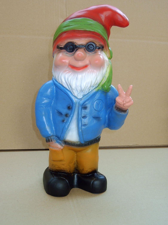 Zwerg Hippie, Victory, 32 cm, Gartenzwerg, Kunststoff (RAKSO)