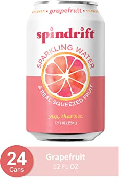 24-Pack Spindrift Grapefruit Flavored Sparkling Water