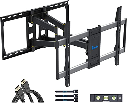 Rentliv TV Mount Full Motion TV Wall Mount Bracket with Articulating Arms for 37-80 Inch TVs up to 154lbs Wall Mount TV Bracket Max VESA 600x400mm Smooth Extension Swivel Tilt