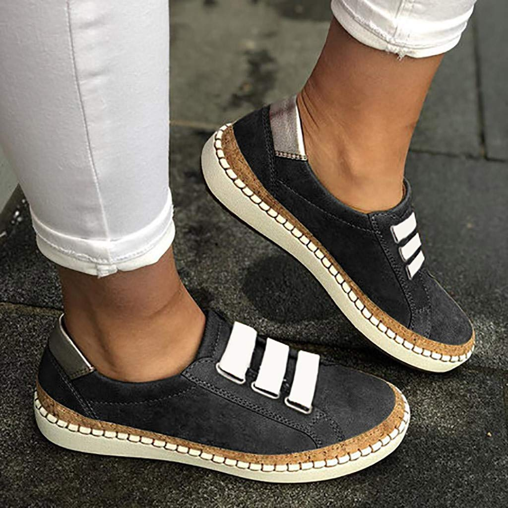 Sneakers for Women,✔ Hypothesis_X ☎ Women's Walking Sock Shoes Hollow-Out Round Toe Casual Sneakers Gray by ✔ Hypothesis_X ☎ Shoes (Image #3)