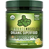 Organic Muscle Superfood Greens | USDA Certified Organic Green Juice Powder | Supports Gut Health, Energy & Weight Management